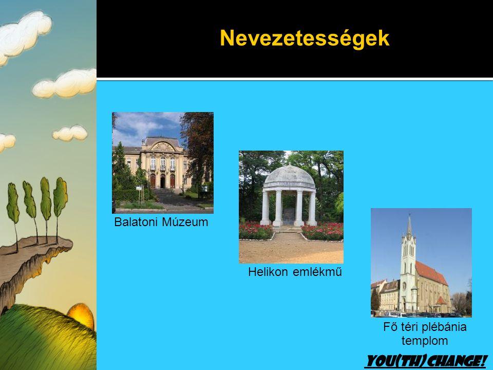 Helikon emlékmű Balatoni Múzeum Fő téri plébánia templom Nevezetességek
