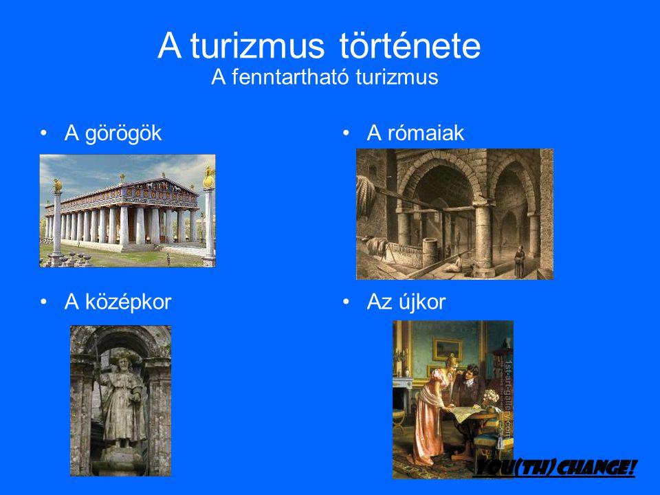 A fenntartható turizmus •A görögök•A rómaiak •A középkor•Az újkor A turizmus története