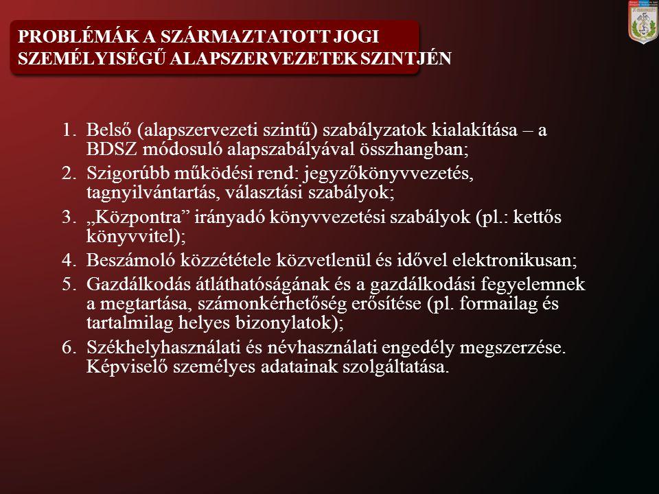 ELVILEG SZÓBA JÖHETŐ ALAPSZABÁLYI MEGOLDÁSOK 1.