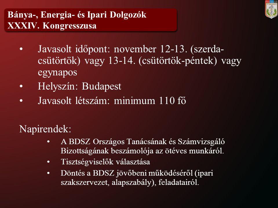 Bánya-, Energia- és Ipari Dolgozók XXXIV.