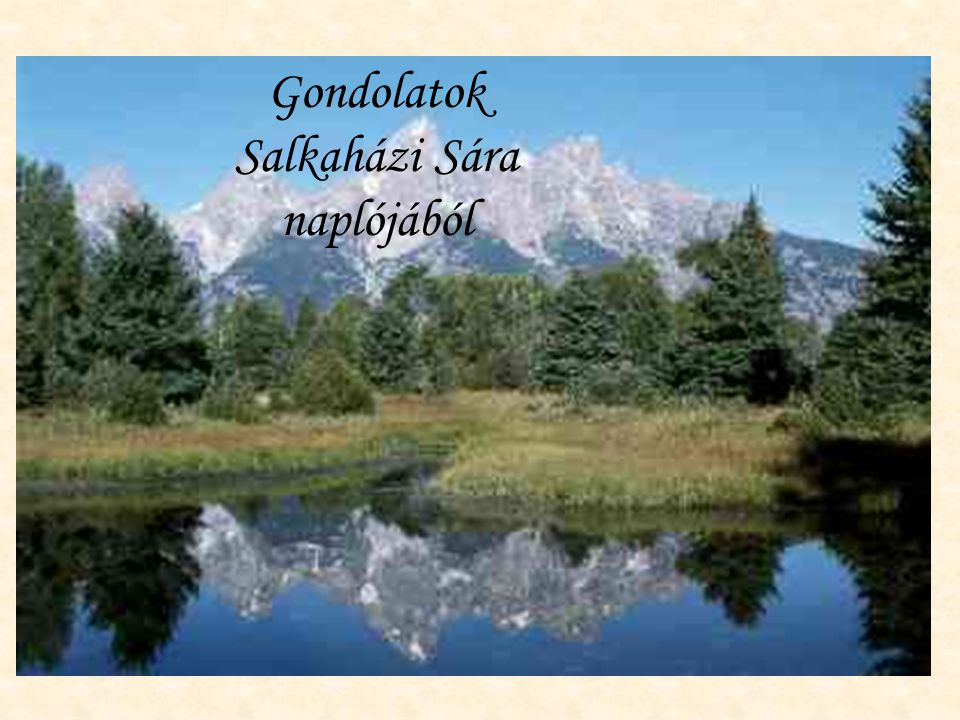 Gondolatok Salkaházi Sára naplójából