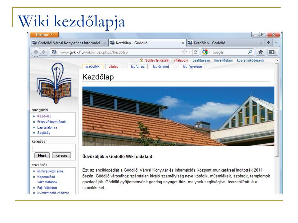 Wiki kezdőlapja