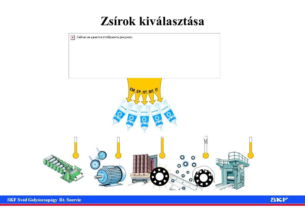 SKF Svéd Golyóscsapágy Rt. Szerviz Zsírok kiválasztása