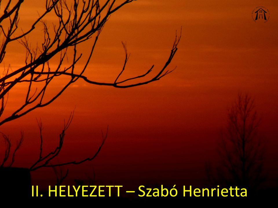 II. HELYEZETT – Szabó Henrietta