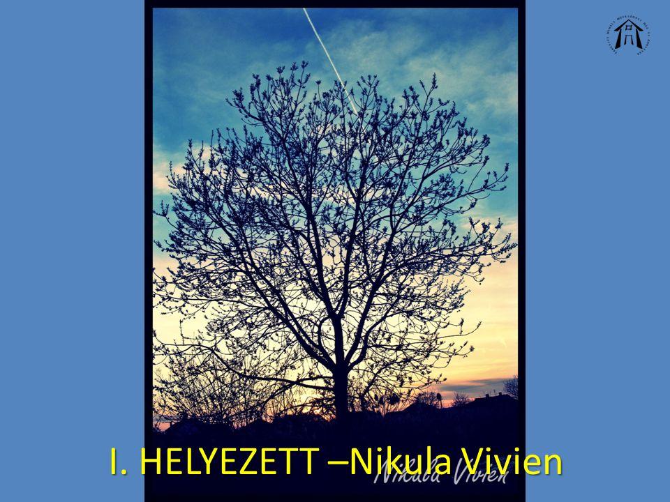 I. HELYEZETT –Nikula Vivien