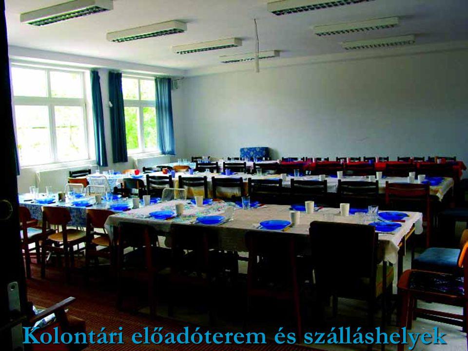 Kolontári előadóterem és szálláshelyek