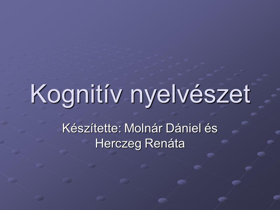 Kognitív nyelvészet Készítette: Molnár Dániel és Herczeg Renáta