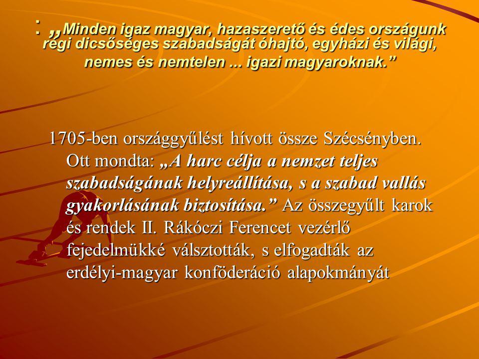 """: """" Minden igaz magyar, hazaszerető és édes országunk régi dicsőséges szabadságát óhajtó, egyházi és világi, nemes és nemtelen... igazi magyaroknak."""""""