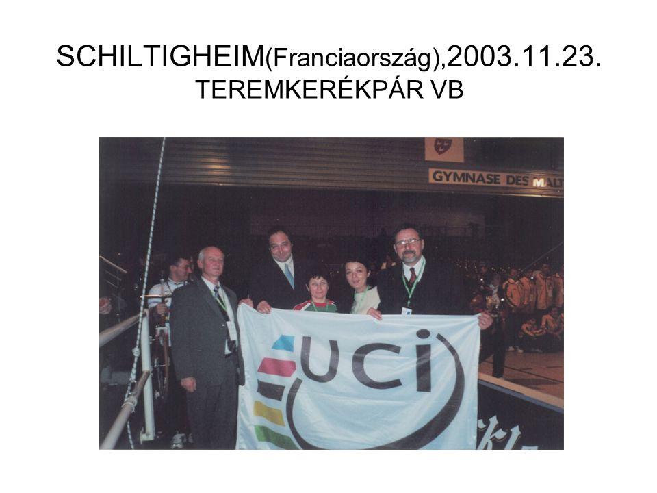 SCHILTIGHEIM (Franciaország), 2003.11.23. TEREMKERÉKPÁR VB