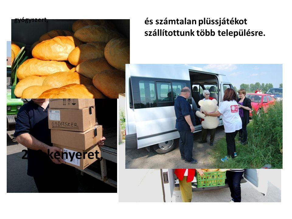 200 kenyeret, gyógyszert, és számtalan plüssjátékot szállítottunk több településre.