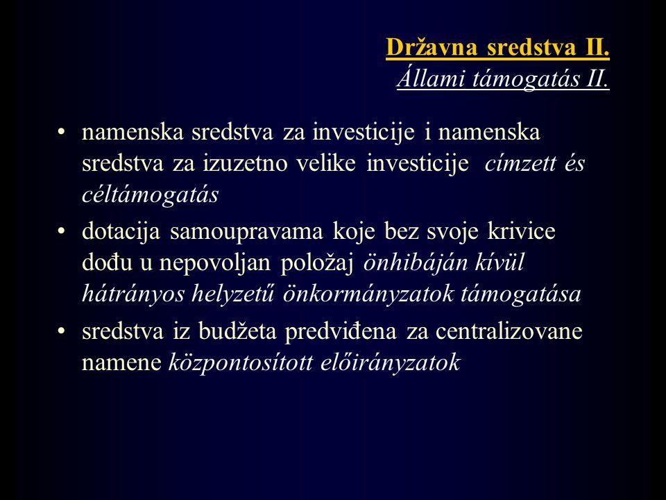 Državna sredstva II. Állami támogatás II.