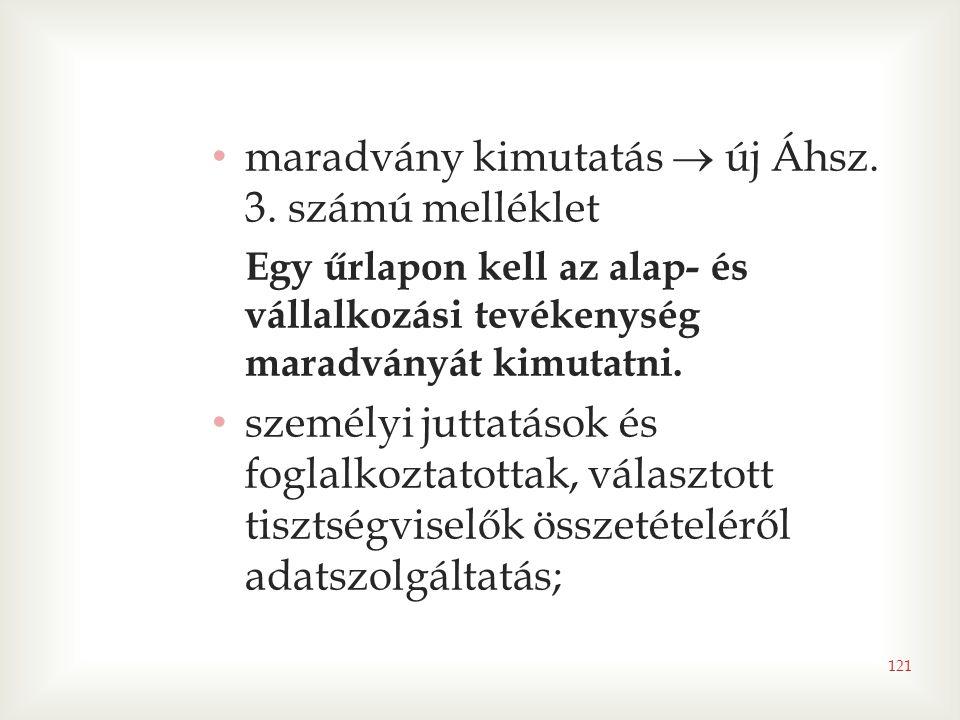 121 • maradvány kimutatás  új Áhsz.3.