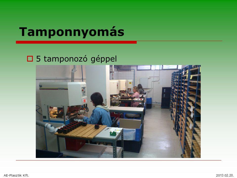 Tamponnyomás  5 tamponozó géppel AE-Plasztik Kft. 20 13. 0 2. 20.