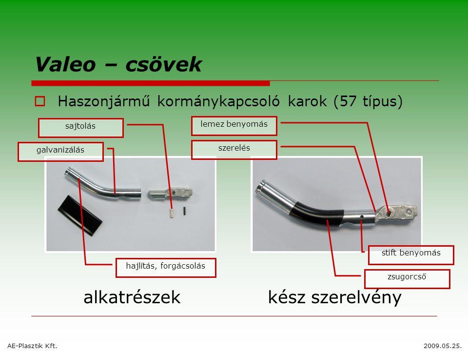 Valeo – csövek  Haszonjármű kormánykapcsoló karok (57 típus) alkatrészekkész szerelvény sajtolás lemez benyomás szerelés galvanizálás stift benyomás