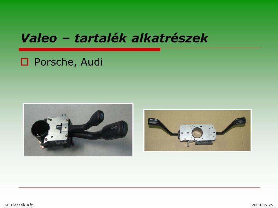 Valeo – tartalék alkatrészek  Porsche, Audi AE-Plasztik Kft.2009.05.25.