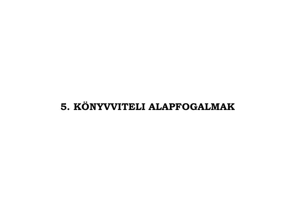 5. KÖNYVVITELI ALAPFOGALMAK