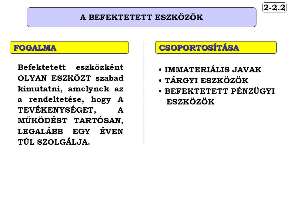 5-2 A GAZDASÁGI ESEMÉNYEK (MŰVELETEK) CSOPORTOSÍTÁSA Bevételeket nem érintő Pl.