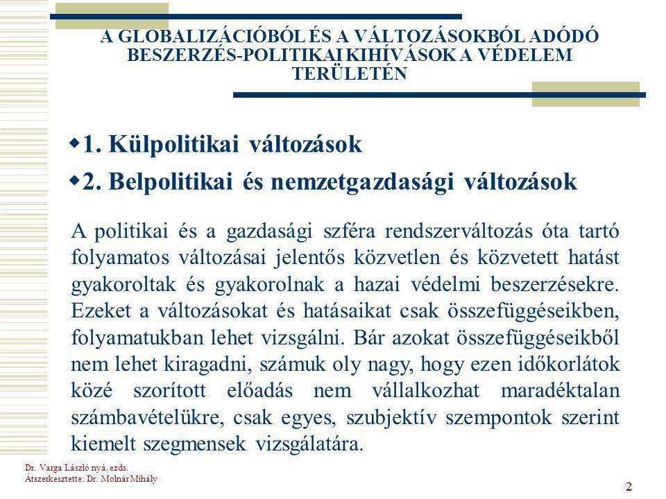 Dr.Varga László nyá. ezds. Átszerkesztette: Dr. Molnár Mihály 53 Köszönöm megtisztelő figyelmüket.