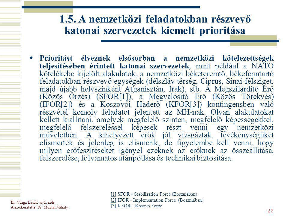 Dr.Varga László nyá. ezds. Átszerkesztette: Dr.