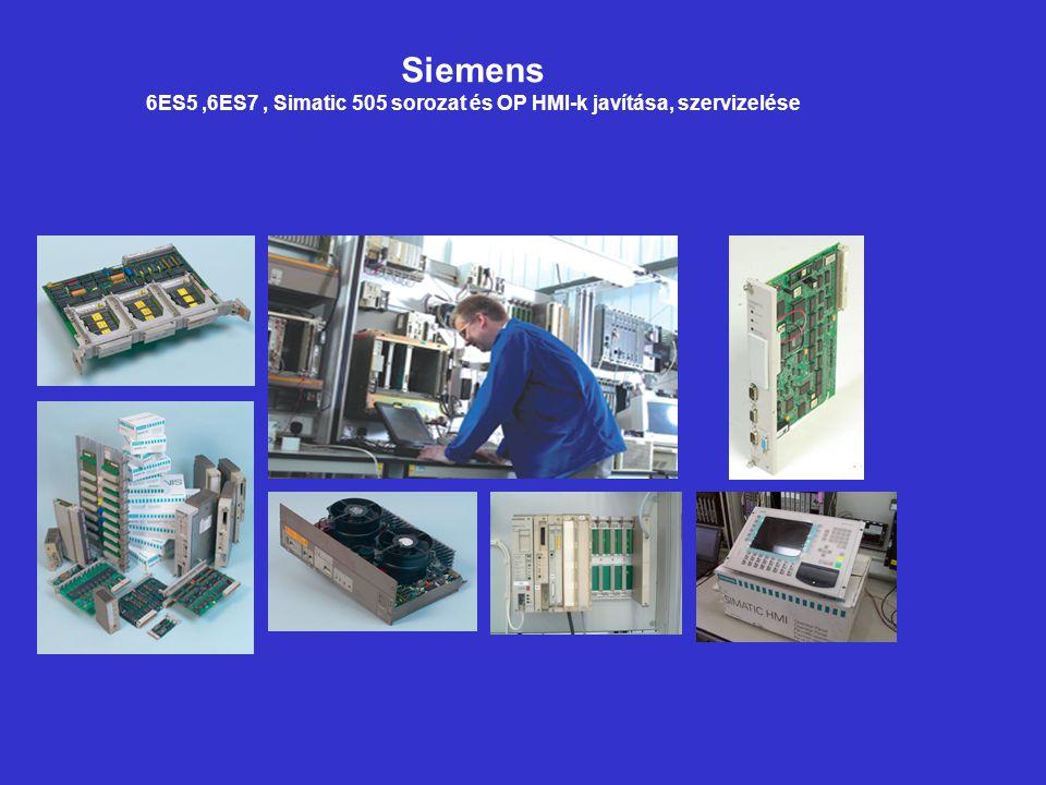 Siemens 6ES5,6ES7, Simatic 505 sorozat és OP HMI-k javítása, szervizelése