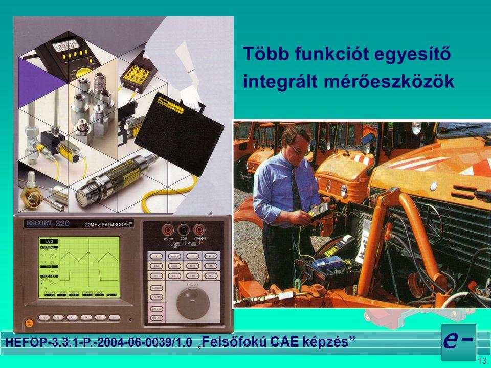 """13. e- HEFOP-3.3.1-P.-2004-06-0039/1.0 """" Felsőfokú CAE képzés"""" Több funkciót egyesítő integrált mérőeszközök"""