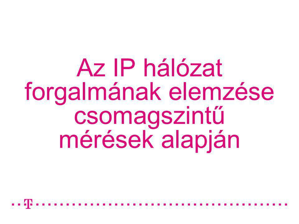 Az IP hálózat forgalmának elemzése csomagszintű mérések alapján