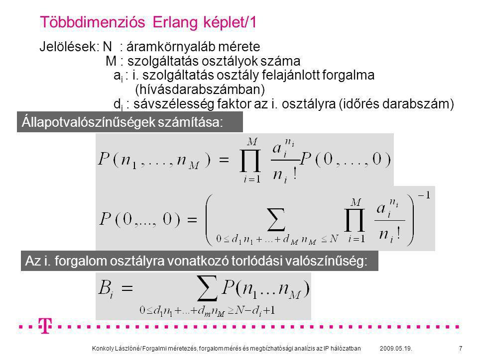 """Konkoly Lászlóné/ Forgalmi méretezés, forgalom mérés és megbízhatósági analízis az IP hálózatban 2009.05.19.18 Méretezési elvek/4: Effektív (ekvivalens) sávszélesség fogalma: Adott C sebességű linken adott (m, σ, H) forgalom forrásnak ennyi sávszélességet """"biztosítunk (foglalunk le) az elvárt szolgáltatási minőség (ε) teljesüléséhez."""
