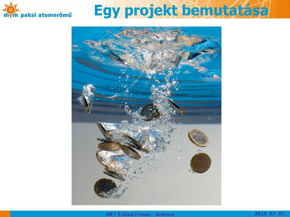 Egy projekt bemutatása 2014. 07. 01. MET Erőmű Fórum - Velence