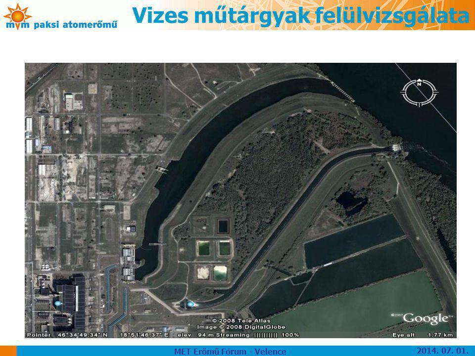 Vizes műtárgyak felülvizsgálata MET Erőmű Fórum - Velence 2014. 07. 01.