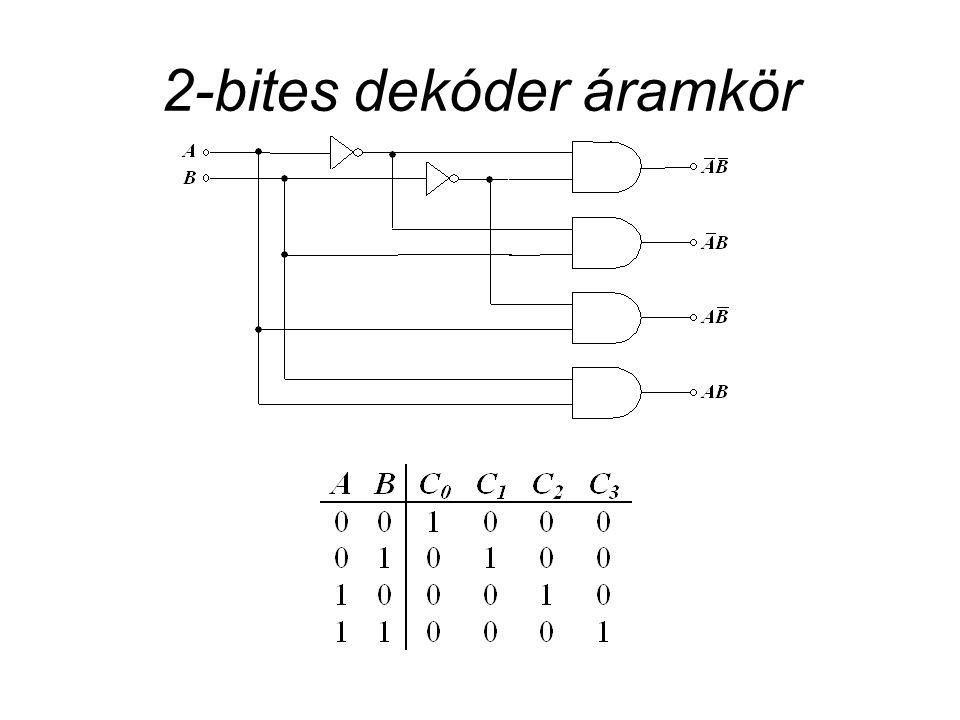 2-bites dekóder áramkör