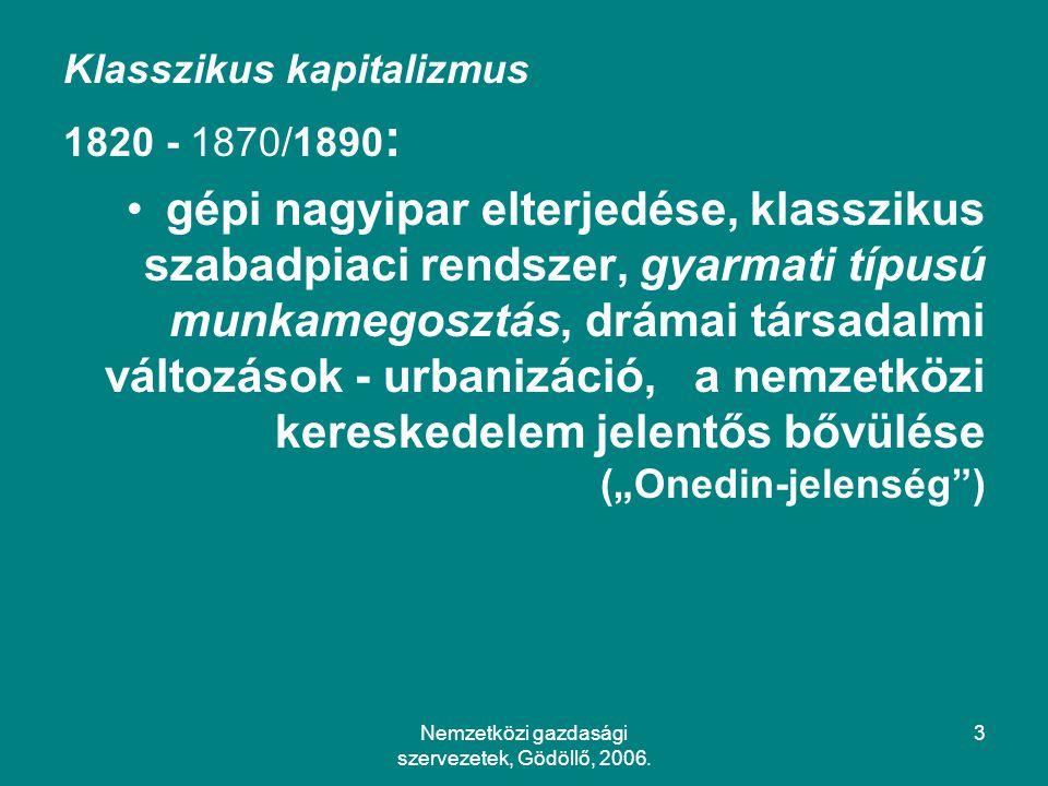 Nemzetközi gazdasági szervezetek, Gödöllő, 2006.114 3.
