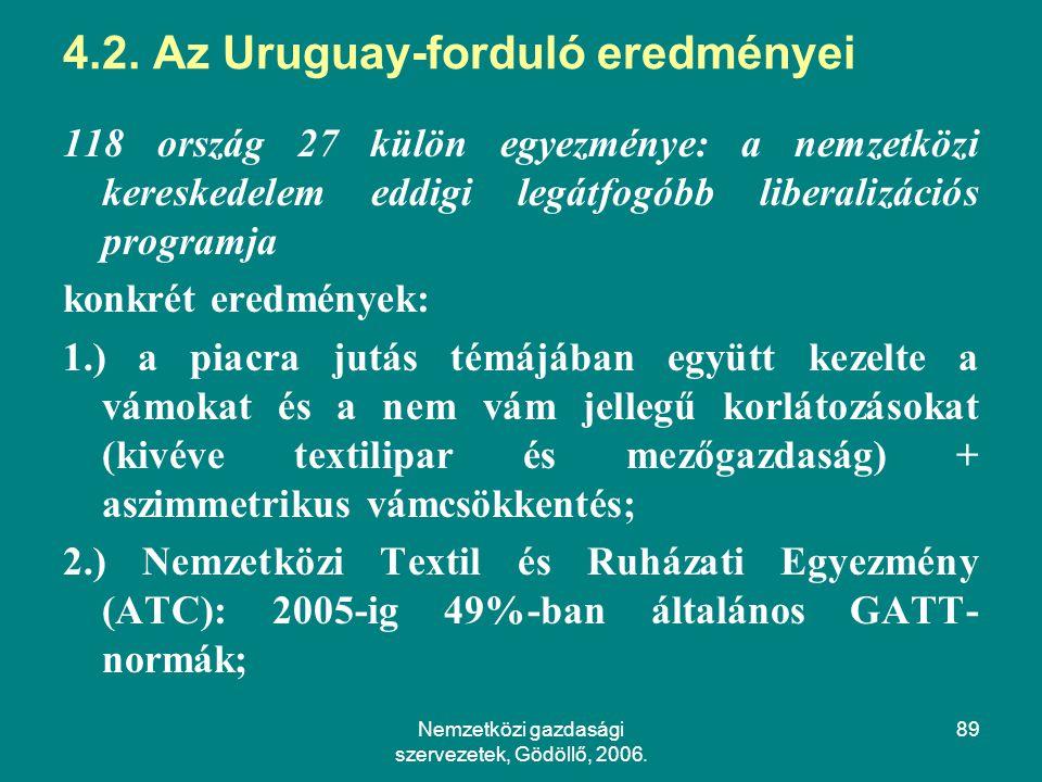 Nemzetközi gazdasági szervezetek, Gödöllő, 2006.89 4.2.