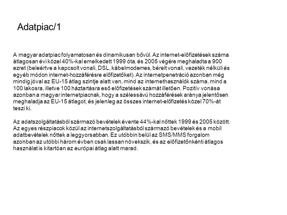 Adatpiac/1 A magyar adatpiac folyamatosan és dinamikusan bővül.