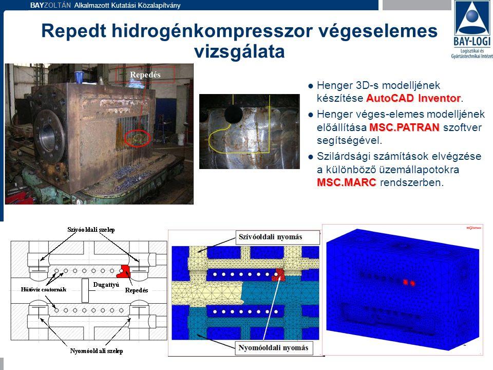 BAYZOLTÁN Alkalmazott Kutatási Közalapítvány AutoCAD Inventor  Henger 3D-s modelljének készítése AutoCAD Inventor. MSC.PATRAN  Henger véges-elemes m