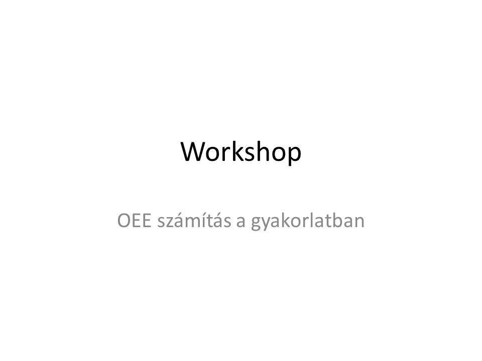 Workshop OEE számítás a gyakorlatban