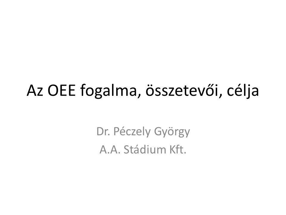Az OEE fogalma, összetevői, célja Dr. Péczely György A.A. Stádium Kft.