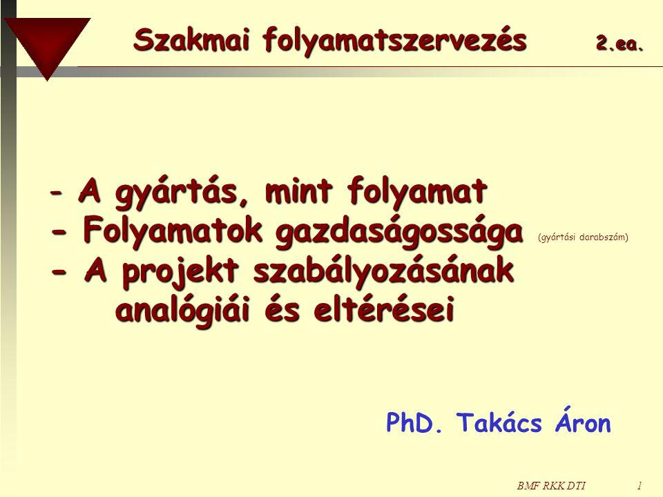 BMF RKK DTI72 a párhuzamos gépkiszolgálás problémája Ph.D.