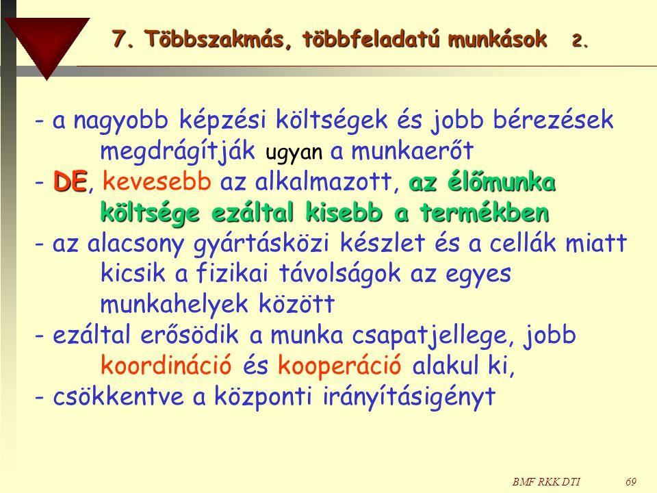 BMF RKK DTI69 - a nagyobb képzési költségek és jobb bérezések megdrágítják ugyan a munkaerőt DEaz élőmunka költsége ezáltal kisebb a termékben - DE, k