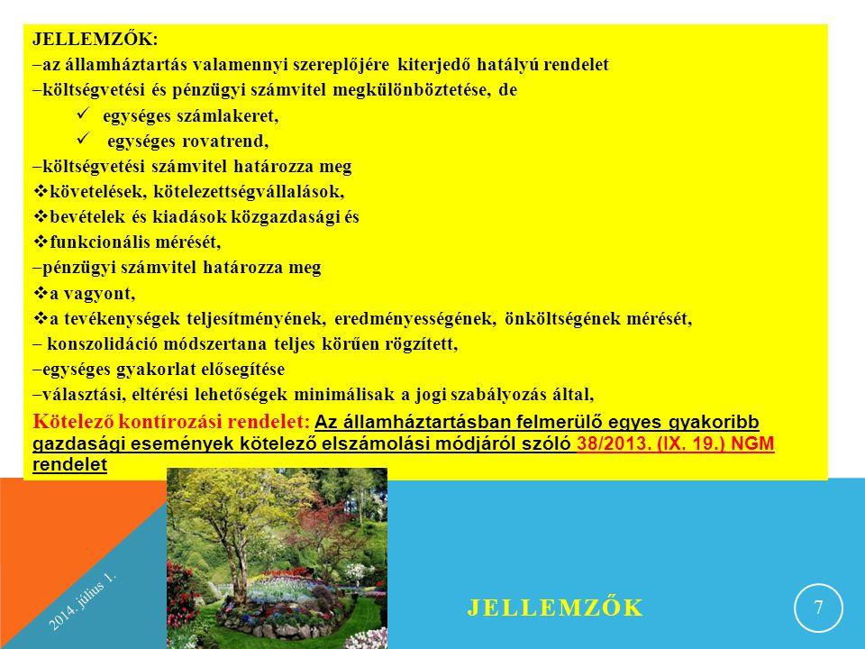 2014.július 1. ÉVES KÖLTSÉGVETÉSI BESZÁMOLÓ RÉSZEI III.