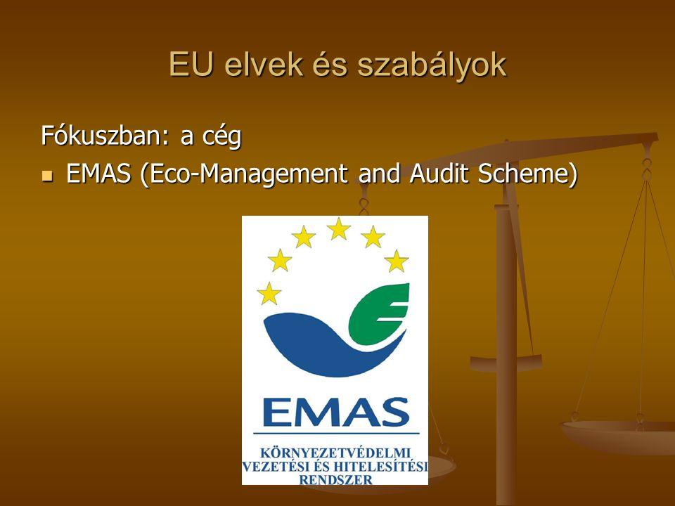 EU elvek és szabályok Fókuszban: a cég  EMAS (Eco-Management and Audit Scheme)