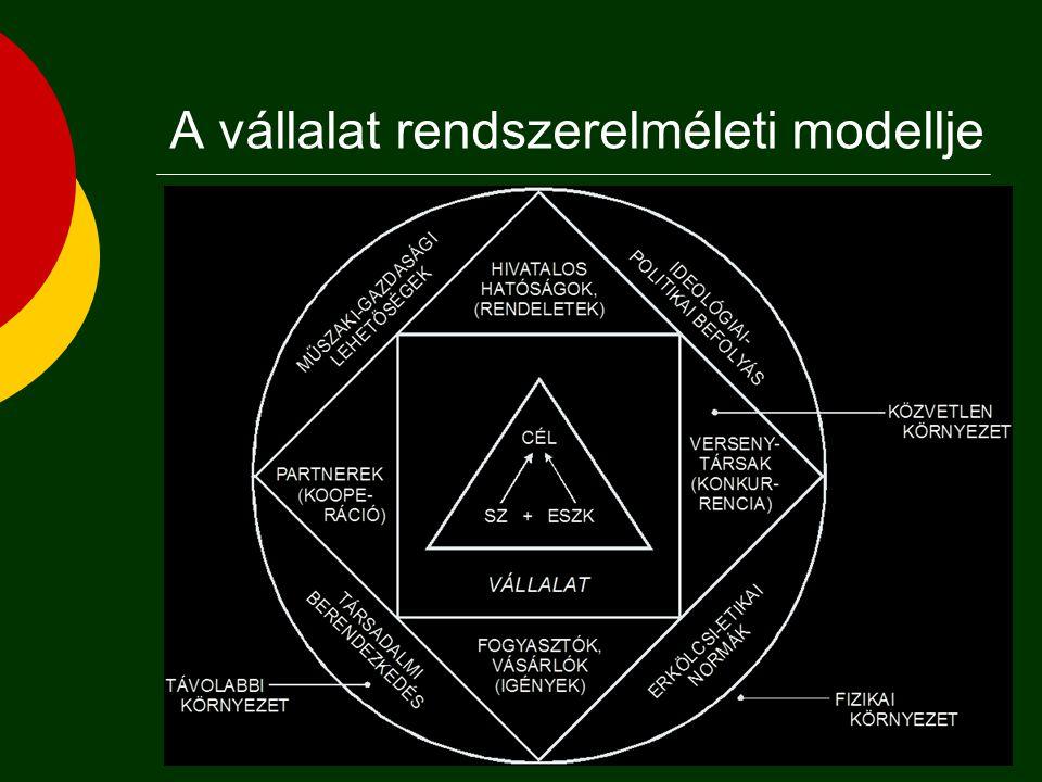 A vállalat rendszerelméleti modellje