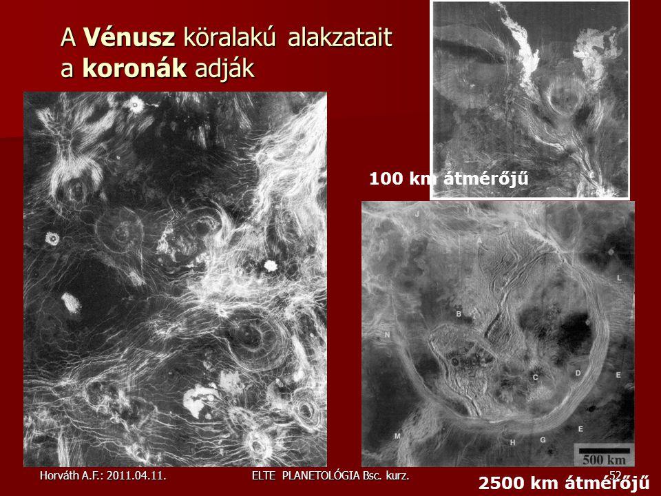 Horváth A.F.: 2011.04.11.ELTE PLANETOLÓGIA Bsc.