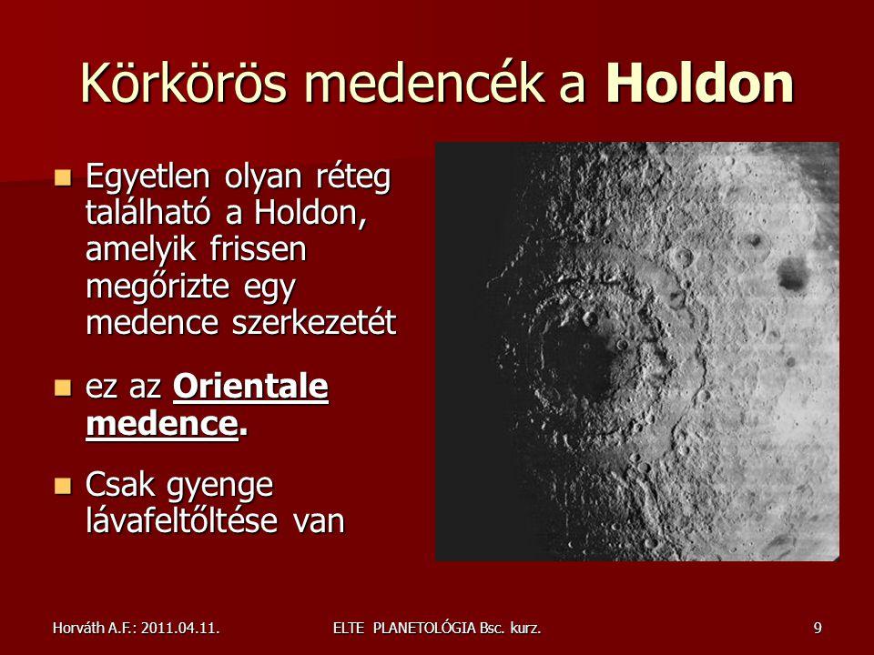 Horváth A.F.: 2011.04.11.ELTE PLANETOLÓGIA Bsc. kurz.50 Vénusz felszín: koronák