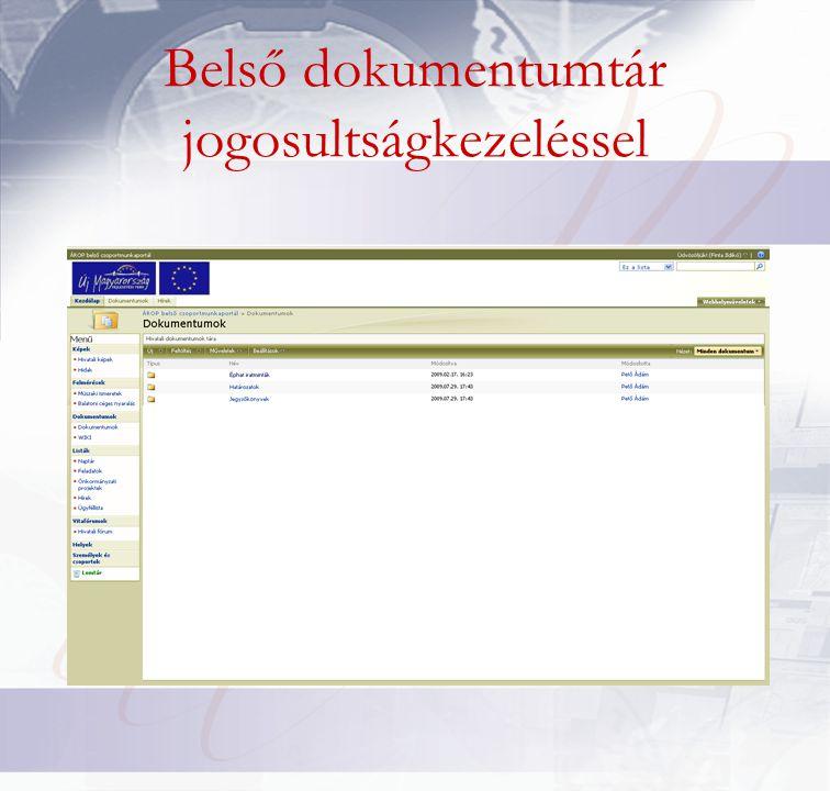 Belső dokumentumtár jogosultságkezeléssel