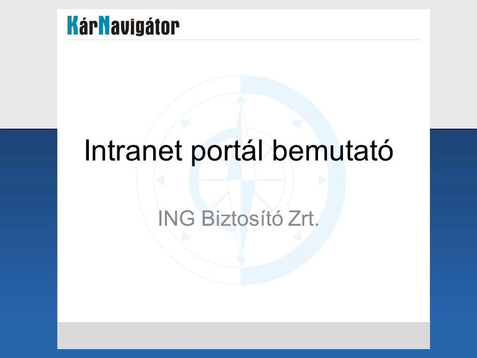 Intranet portál bemutató ING Biztosító Zrt.