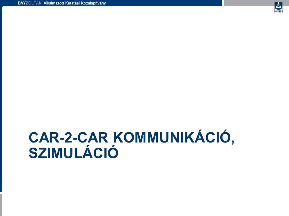 BAYZOLTÁN Alkalmazott Kutatási Közalapítvány CAR-2-CAR KOMMUNIKÁCIÓ, SZIMULÁCIÓ