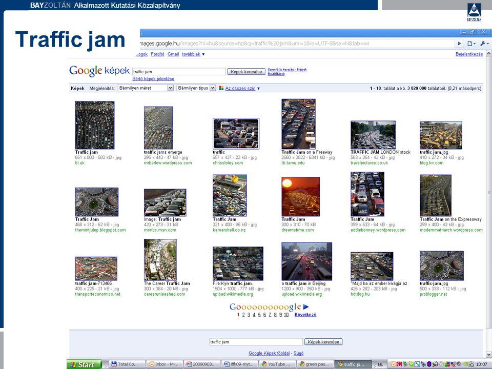 BAYZOLTÁN Alkalmazott Kutatási Közalapítvány Traffic jam