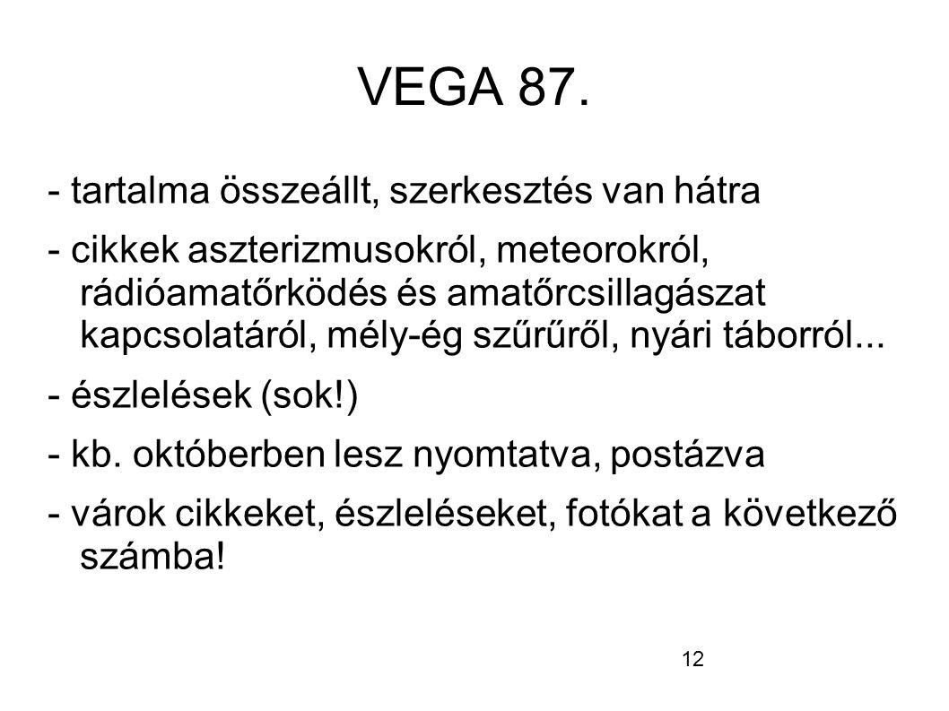 12 VEGA 87.