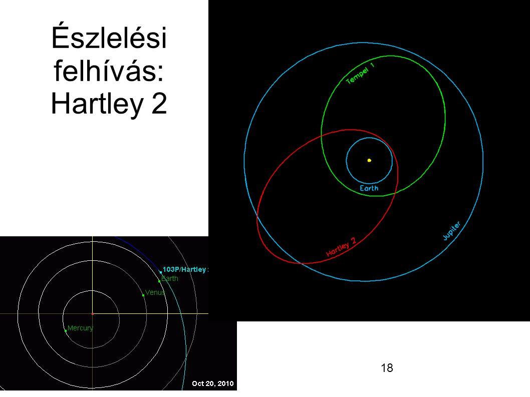 18 Észlelési felhívás: Hartley 2