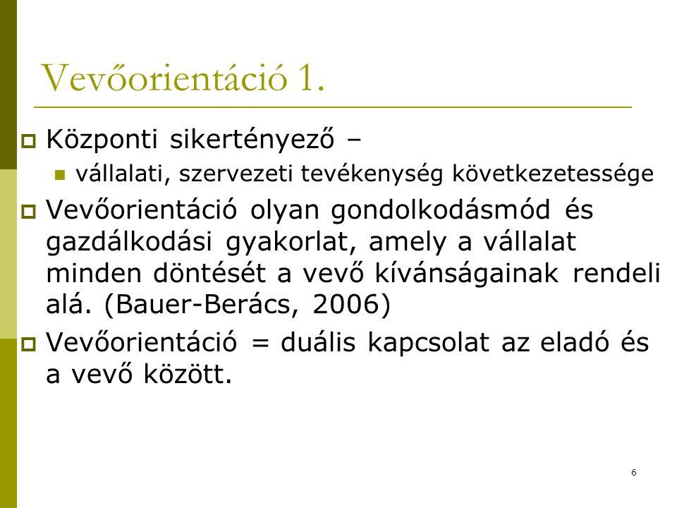 7 Vevőorientáció 2.